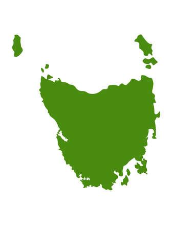 vector illustration of Tasmania map