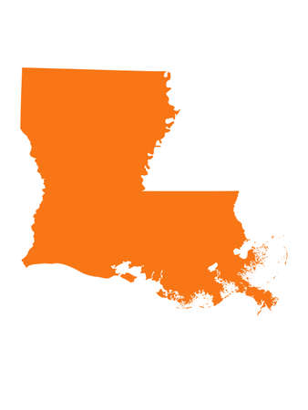 vector illustration of map of Louisiana - U.S. state