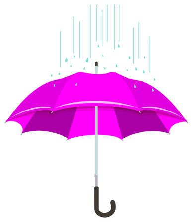 vector illustration of umbrella or parasol silhouette