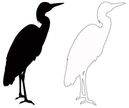 vector illustration of set of black bird silhouette Çizim