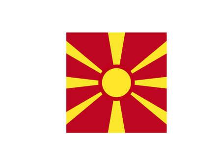 vector illustration of North Macedonia flag