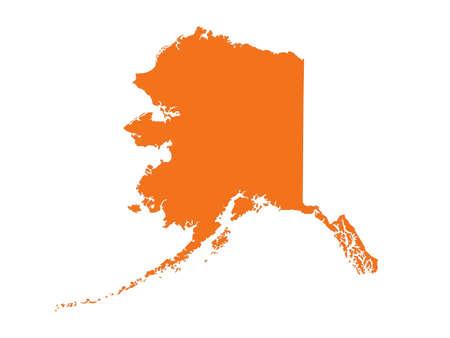 vector illustration of Alaska map - U.S. state