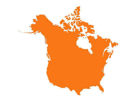 vector illustration of North America map