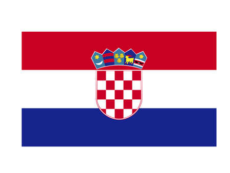 vector illustration of Croatia flag