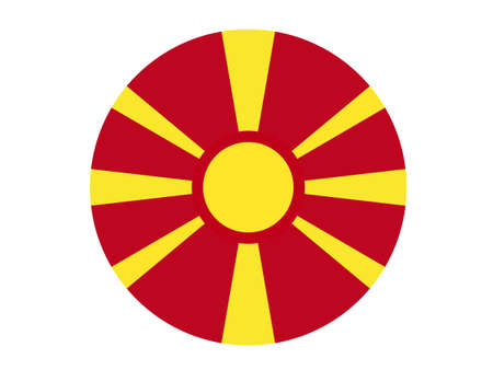 vector illustration of North Macedonia flag