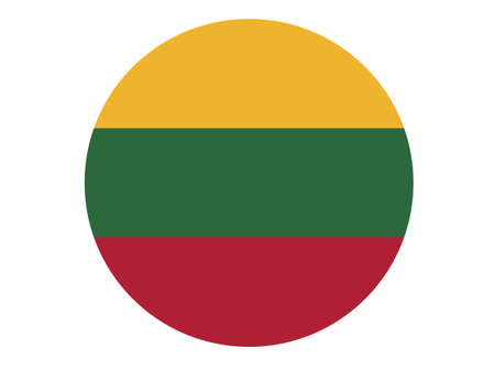 vector illustration of Lithuania flag
