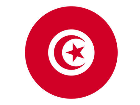vector illustration of Tunisia flag