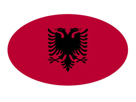 vector illustration of Albania flag