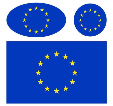 european union flags Иллюстрация