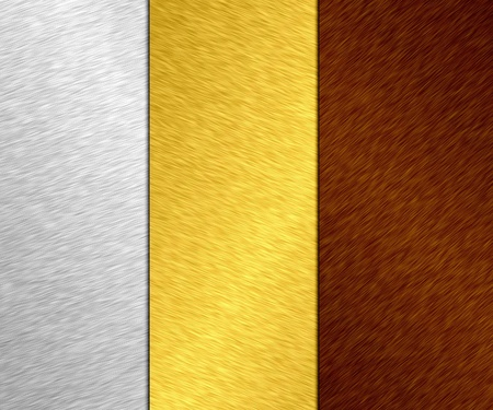 aluminium wallpaper: metal banner