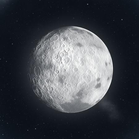 night moon: luna llena Foto de archivo