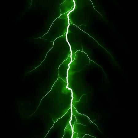 descarga electrica: verde trueno Foto de archivo