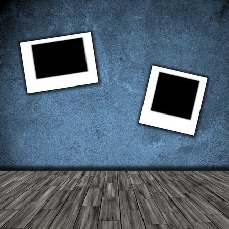 photo frame on wall