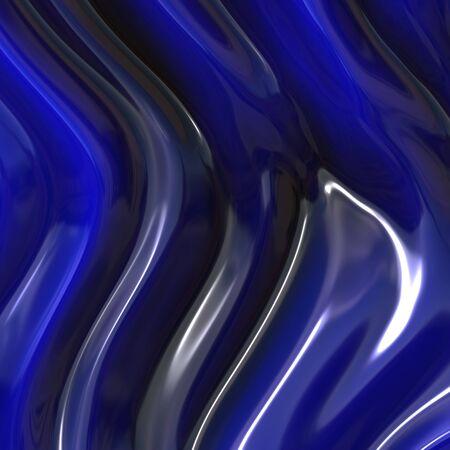 blue silk Stock Photo