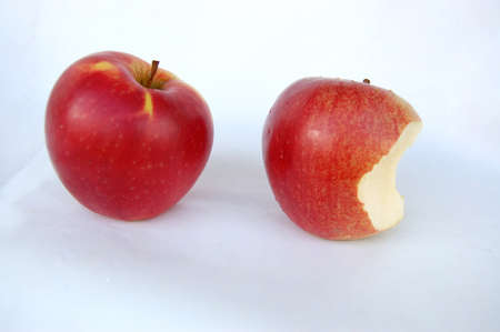 Couple of apples on white background