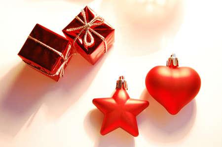 Christmas decoration on warm background Stock Photo