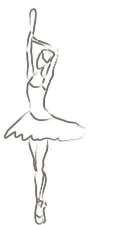 ballet studio: Vector of a ballerina dancer Illustration
