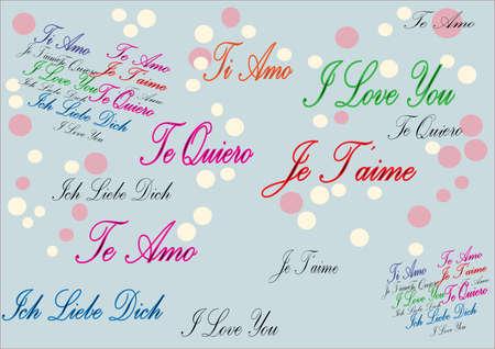 universal love: Multilanguage Te amo fondo
