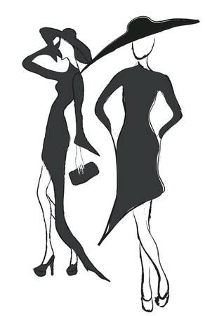 Fashion Models in Elegant Dresses