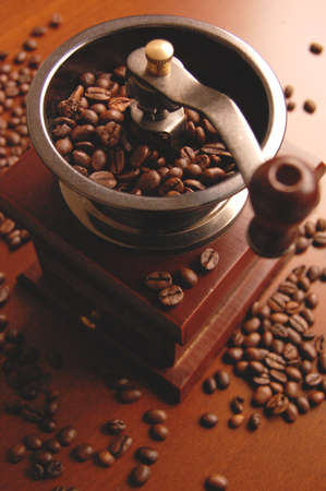Reto coffee mill with beans photo