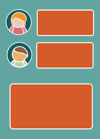 Template Design for Presentation with Icons and Text Boxes Vector