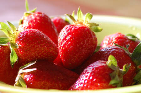 Strawberries in a plate  Stock Photo