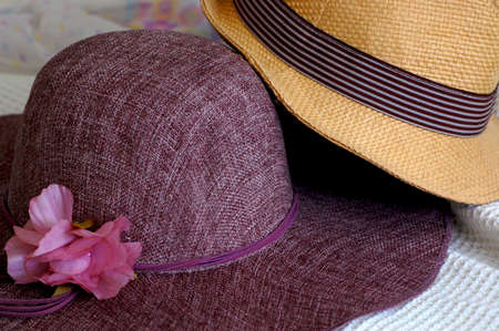 Two hats fashion accessories Stock Photo
