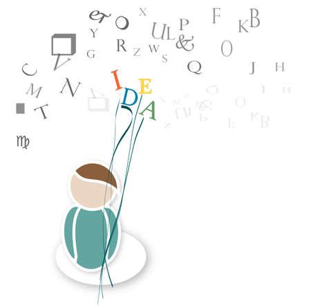 Creative Idea Thinking Concept Stock Vector - 20725528