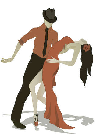 Salsa Dancing Couple, Latino dancers Banque d'images