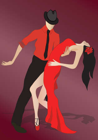 Salsa Dancing Couple, Latino dance Vector