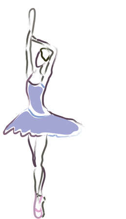 dress sketch: Ballerina silhouette  Ballet dance performance