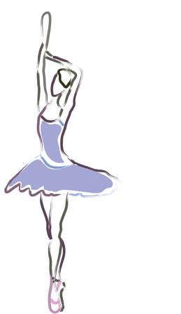 Ballerina silhouette  Ballet dance performance