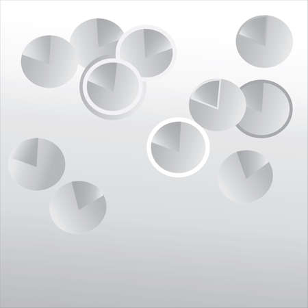 Abstract Background  Web Pattern with Grey Spheres Illustration