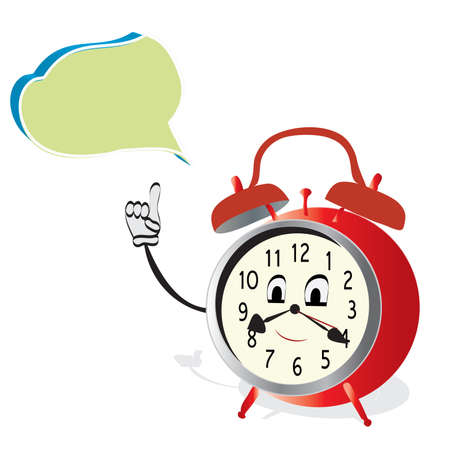 Talking Alarm Clock  Animated Watch with Speak Bubble