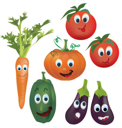 Illustration Collection of Animated Tomatoes,  Vector