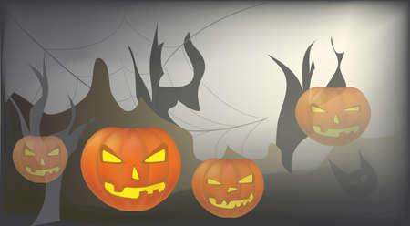 Halloween Day Celebration Card with Pumpkin Stock Vector - 22347308