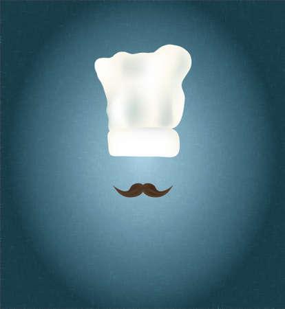 main dishes: Sombrero del cocinero con los bigotes Restaurant Menu Design Vectores