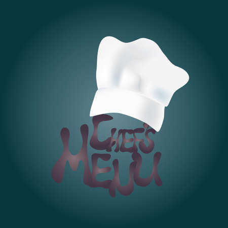 chef s hat: Chef s  Hat with Menu Design Text  Restaurant Menu Design Illustration