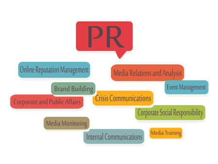 Public Relations  PR Graphic Presentation Vector