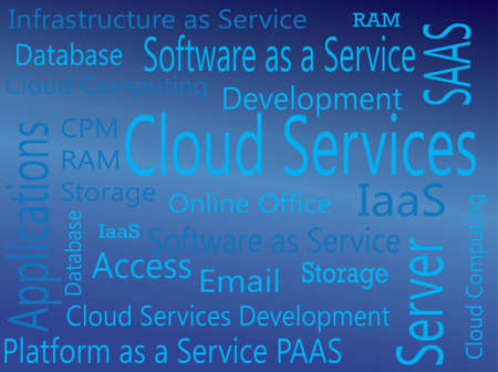 saas: Cloud Services  IAAS, PAAS, SAAS Virtual Concept Illustration