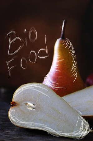 Paire, Apple et d'autres fruits à poster des photos de style rétro Banque d'images - 26047001