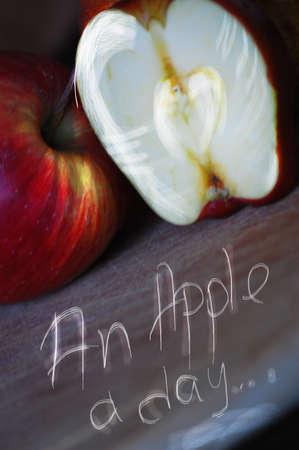 Paire, Apple et d'autres fruits à poster des photos de style rétro Banque d'images - 26047015