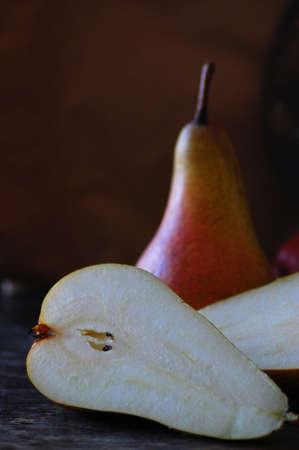 Paire, Apple et d'autres fruits à poster des photos de style rétro Banque d'images - 26047016