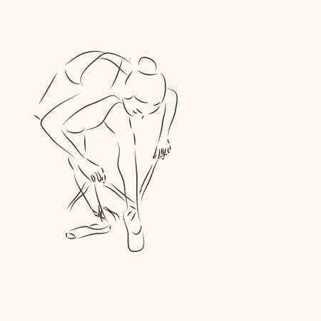 Ballerina  Ballet Dancer Drawing Vector