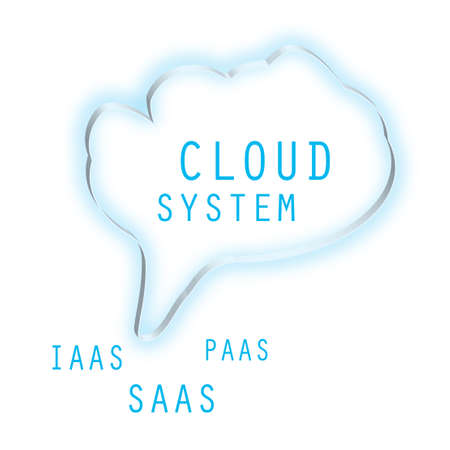 saas: Cloud System , PAAS, SAAS Virtual Concept Illustration