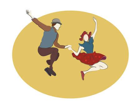 Swing Dancing people. Swing Music