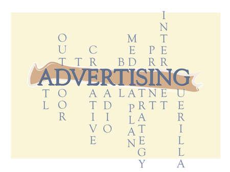 atl: Advertising Word Graphic Illustration