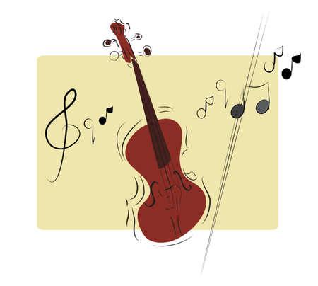 transcription: Illustration of a Musical Instrument Violin