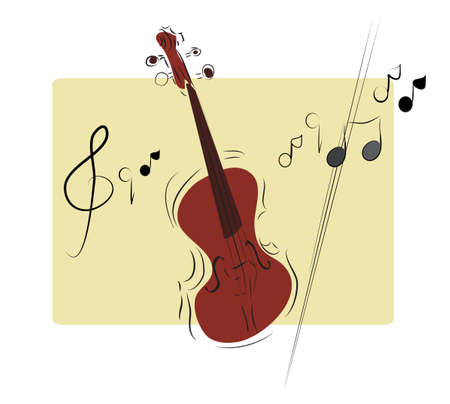 Illustration of a Musical Instrument Violin