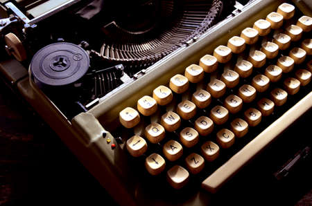 Retro Typewriter Machine Close up